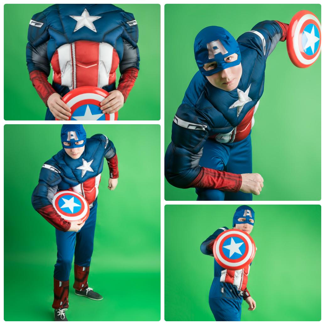 Костюм Капитан Америка в аренду